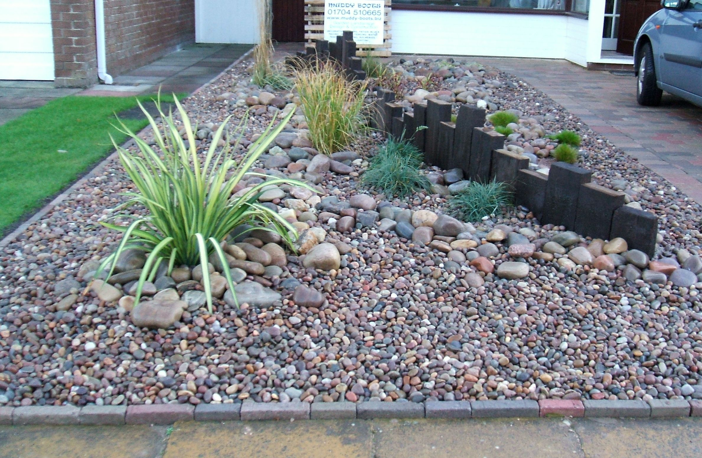 Muddy boots for Front garden stones